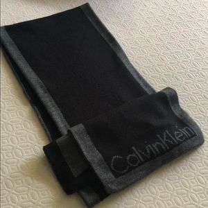 Calvin Klein Black/Grey Scarf Excellent Condition